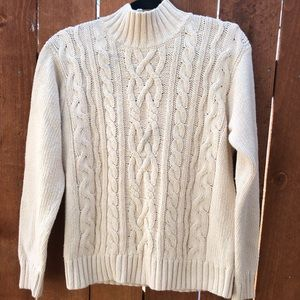 F by Faconnable Chunky Cotton Turtleneck Sweater